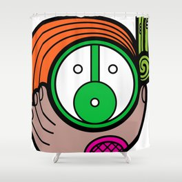 Green Child - Niño Verde Shower Curtain