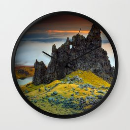 Rock falaise Ecosse Wall Clock