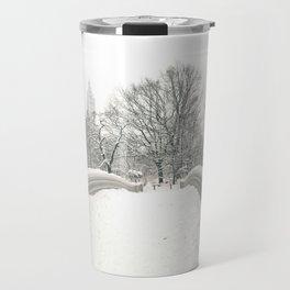 Winter Snow in New York City Travel Mug