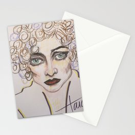 joan lavender and brown Stationery Cards