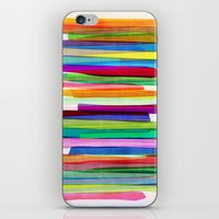neon iPhone & iPod Skins featuring Colorful Stripes 1 by Mareike Böhmer