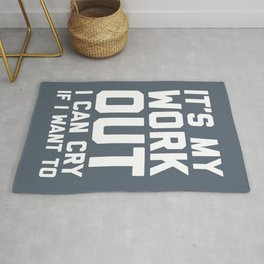 It's My Workout Funny Gym Quote Rug