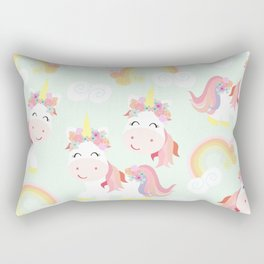 Unicorn and rainbow Rectangular Pillow