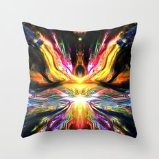 Black Imagination Activated Throw Pillow