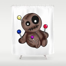 Womens Thinking About You | Voodoo Doll T-Shirt Shower Curtain