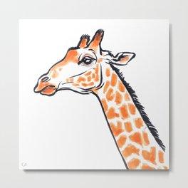 Enzi the Giraffe Metal Print