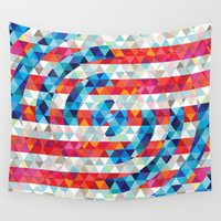 america Wall Tapestries featuring Abstract America by Fimbis