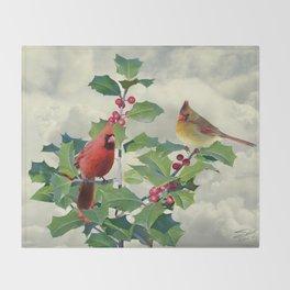 Cardinals on Tree Top Throw Blanket