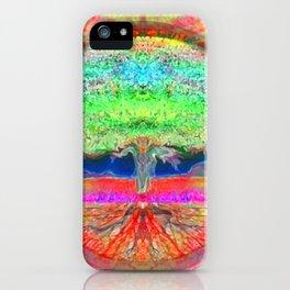 Neon Glow Tree of Life iPhone Case