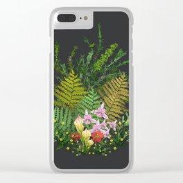 Bog Bouquet Clear iPhone Case