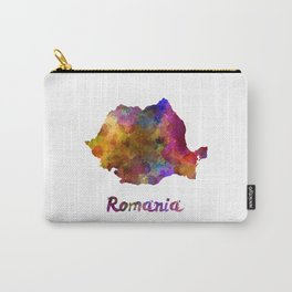 Romania in watercolor Carry-All Pouch