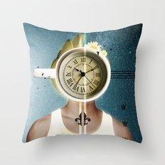 Dream of Coffee / Halftones Throw Pillow