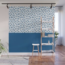 Triangles Blue Wall Mural