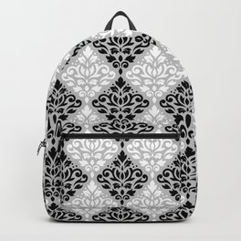 Scroll Damask Pattern BWG Backpack