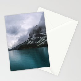 Landscape Photography Maligne Lake Mountain View | Turquoise Water | Alberta Canada Stationery Cards