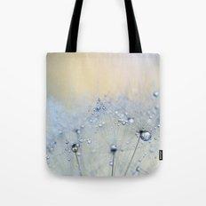ice blue dandelion Tote Bag