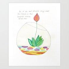 Terrarium Flower Art Print