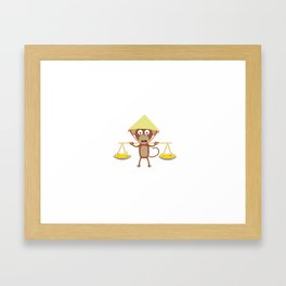 Vietnamese monkey Framed Art Print