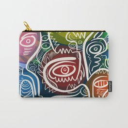 Green Graffiti Life Nature Art Tribal Carry-All Pouch