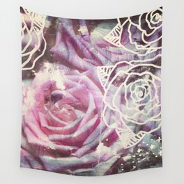 Roses are Pink Wall Tapestry