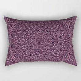 Dark Purple color mandala Sophisticated ornament Rectangular Pillow