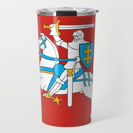 State Flag of Lithuania Knight On Red Travel Mug