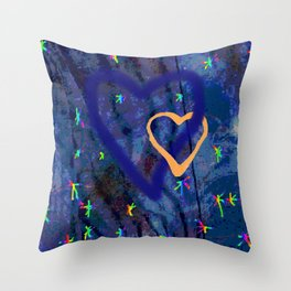 Star rainbow Throw Pillow
