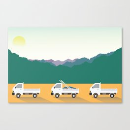 Country life in Japan Canvas Print