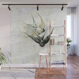 Vintage Soaring Birds Wall Mural