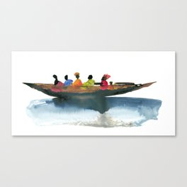Floating village Canvas Print