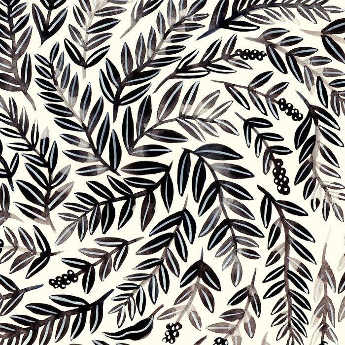 Black Branches Leggings