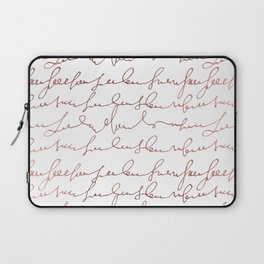 Modern faux rose gold trendy typography Laptop Sleeve