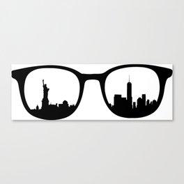 New York City Skyline through Waverly Glasses  Canvas Print