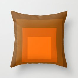 Block Colors - Orange Throw Pillow