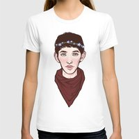 merlin T-shirts featuring Merlin Flowercrown by Emma Ehrling