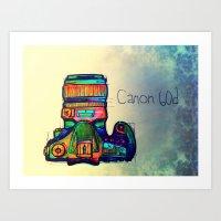 Canon 60D in Color   Art Print