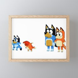 Family Blue Dance Framed Mini Art Print