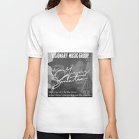 frank sinatra V-neck T-shirts featuring Logic x Frank Sinatra by Victor Lopez