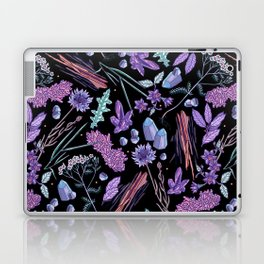 Purple flowers and jewels. Laptop & iPad Skin