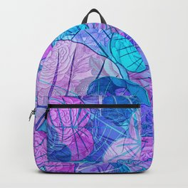 Leaves in Rosy Background Backpack