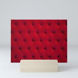 Padded red velvet texture Mini Art Print