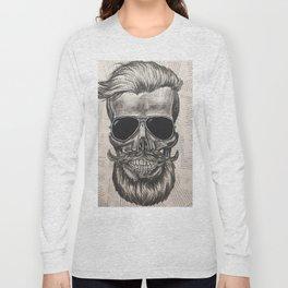 hipster skull Long Sleeve T-shirt