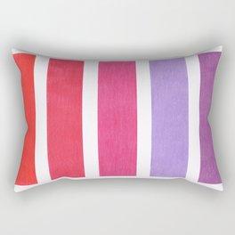 Red & Purple Geometric Pattern Rectangular Pillow