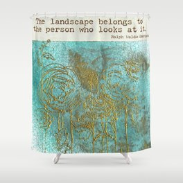 Emerson's Field of Flowers Shower Curtain