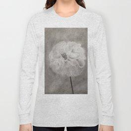 Charcoal Flower Long Sleeve T-shirt