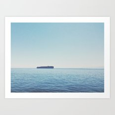 Somewhere in the Pacific Art Print