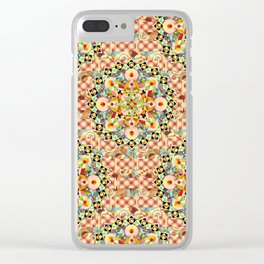 Bijoux Carousel Mandala Plaid Clear iPhone Case