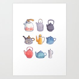 Teapots Art Print