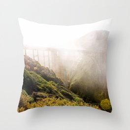 Foggy Day in the Bay Throw Pillow
