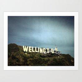 Windy Wellington Sign Art Print